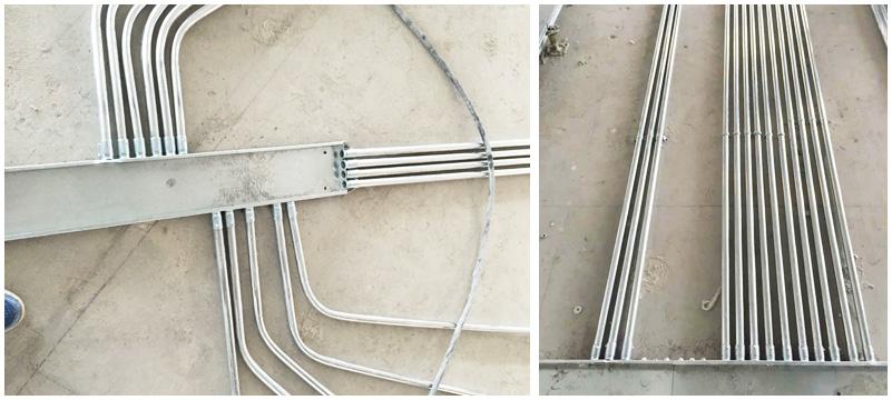 管道预埋-钢管壁厚均匀,合理架构连接紧密,管口光滑,护口齐全,整齐美观。