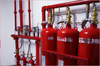 采用气体灭火装置、有管网灭火系统,高效安全