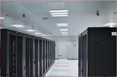 存储大型机以及刀片服务器,冷通道提高制冷效率,节约电能